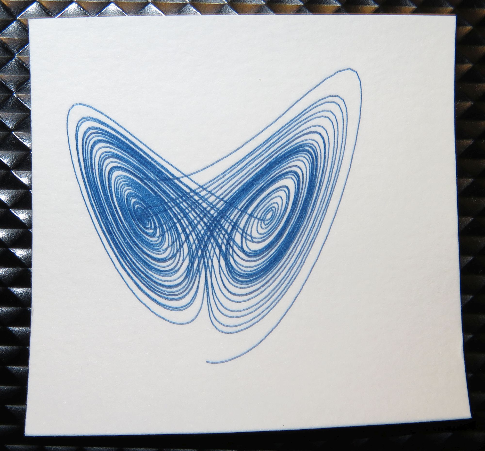 AxiDraw - UV laser exposing Cyanotype paper