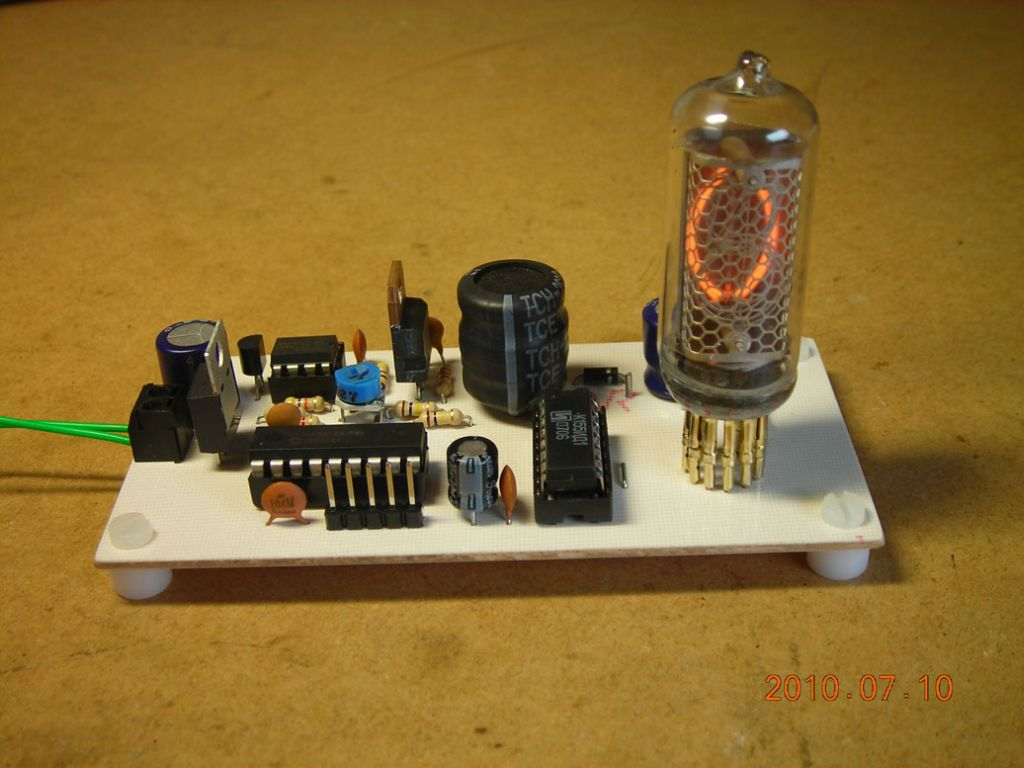 Nixie Tube Counter Circuits Source Code Files When Power Is First Applied The Starts Counting Digits 0 9 At A Rate Of About 2hz Pictures Below Show Different States
