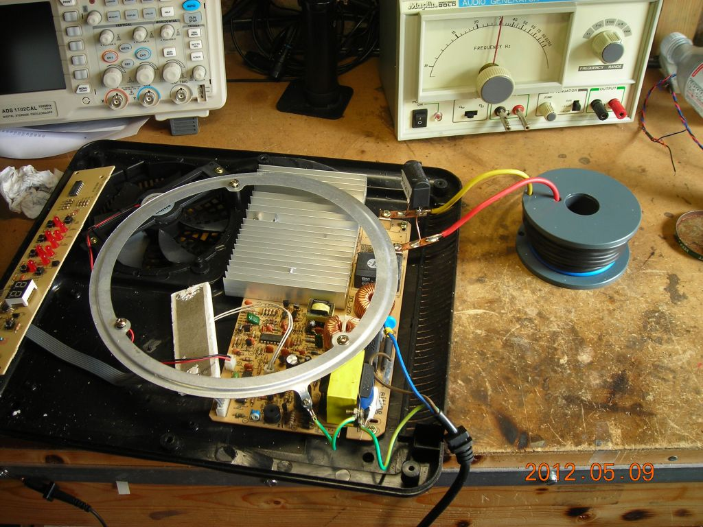 Using an external    coil    with an    induction    cooker