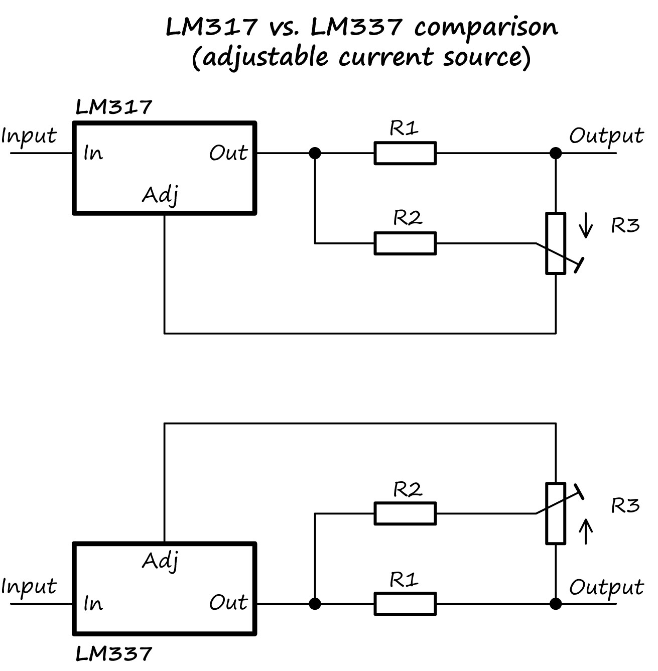 lm317 adjustable current source regulator