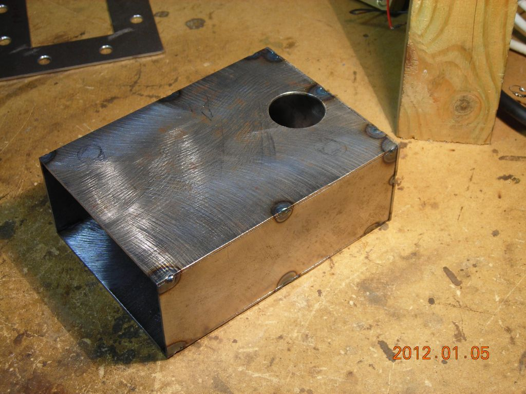 It S All Made From 1 6mm Thick Steel Sheet Cut Out By Hand And Then Tig Welded Along The Seams Ground Flat Waveguide Is Size Wr340