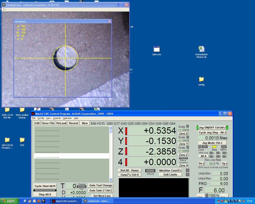 Webcam crosshairs/alignment
